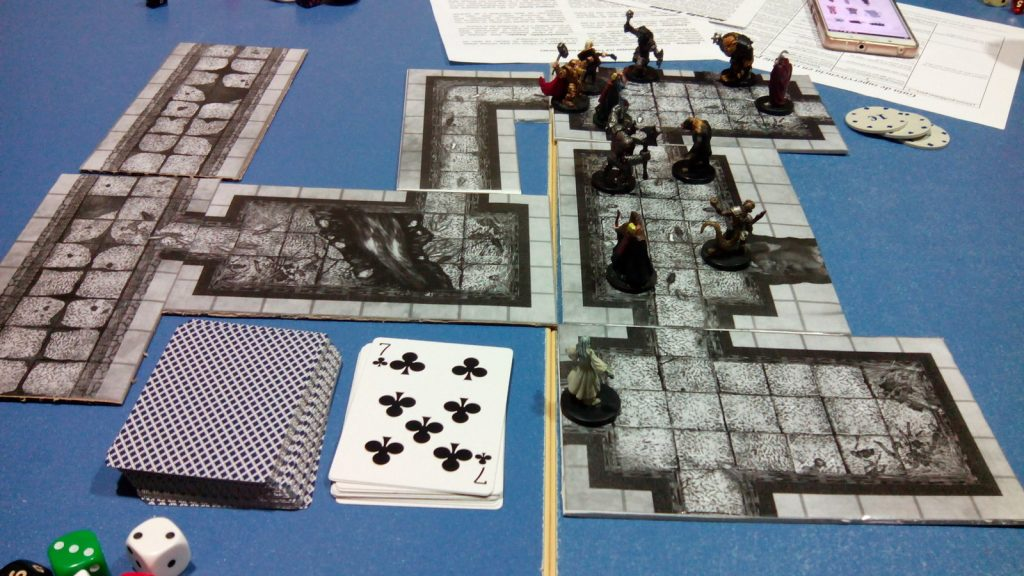Partida de rol con las tiles creadas en 2.5D