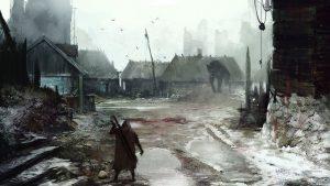 Un poblado tipico de fantasia oscura