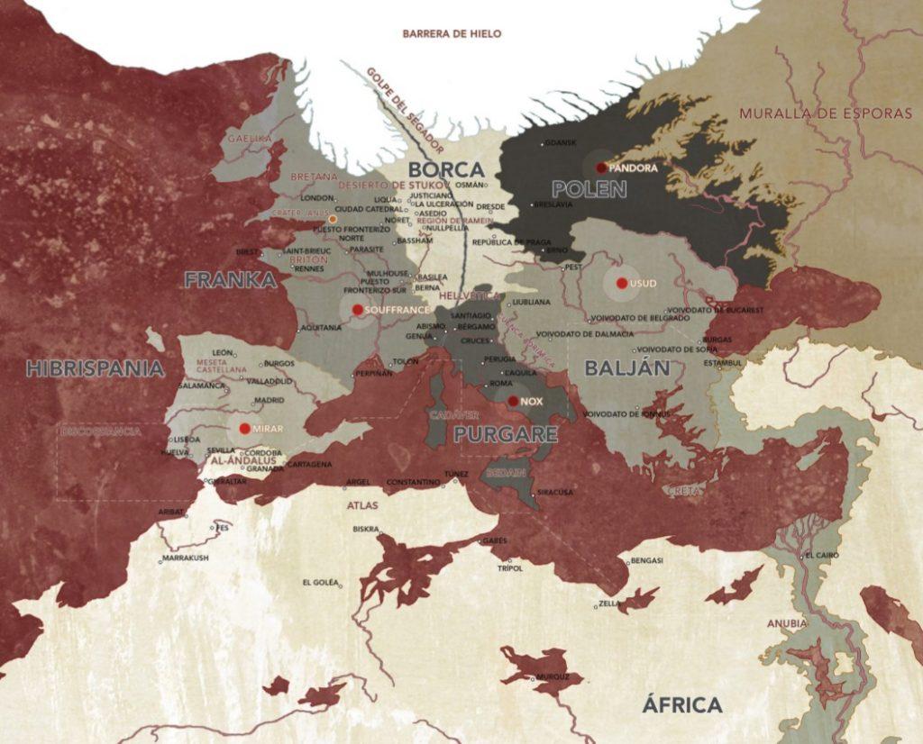 Mapa del mundo conocido de Degenesis