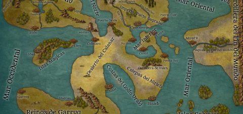Mapa del mundo de las Tierras de Keru