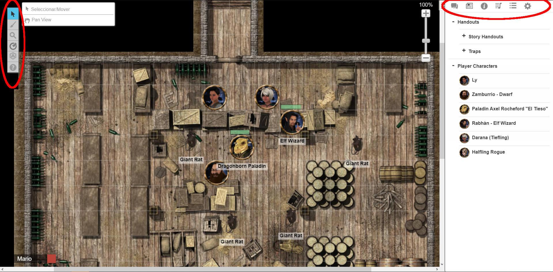 Tutorial para usar Roll20 como jugador, imagen 1